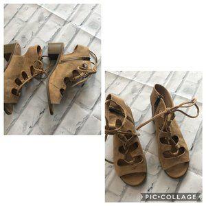 Lane Bryant Size 8W Lace Up Sandals